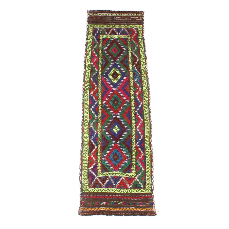2' x 6' Hand-Woven Afghan Suzni Kilim Rug Runner