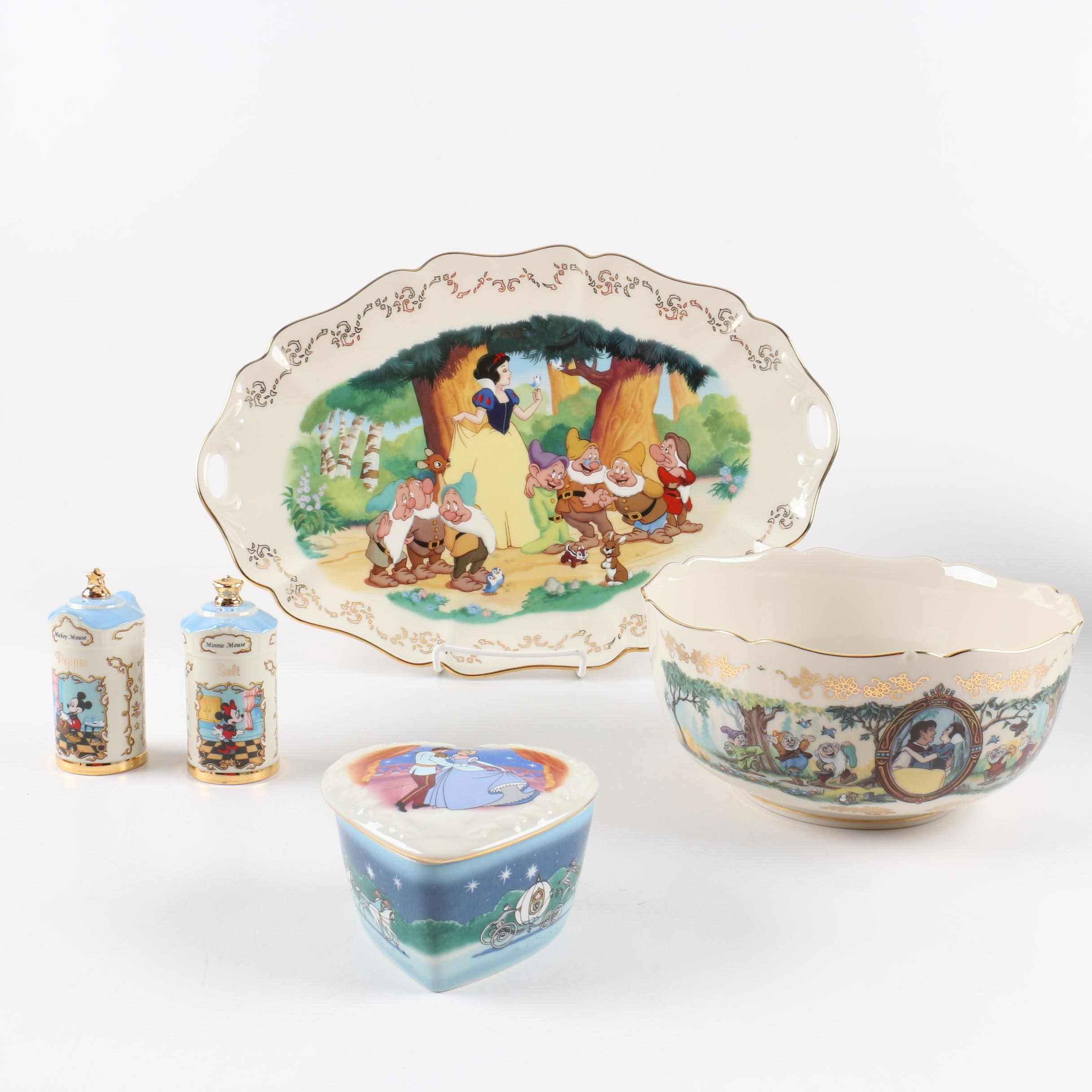 Limited Edition Lenox Disney Commemorative Servingware
