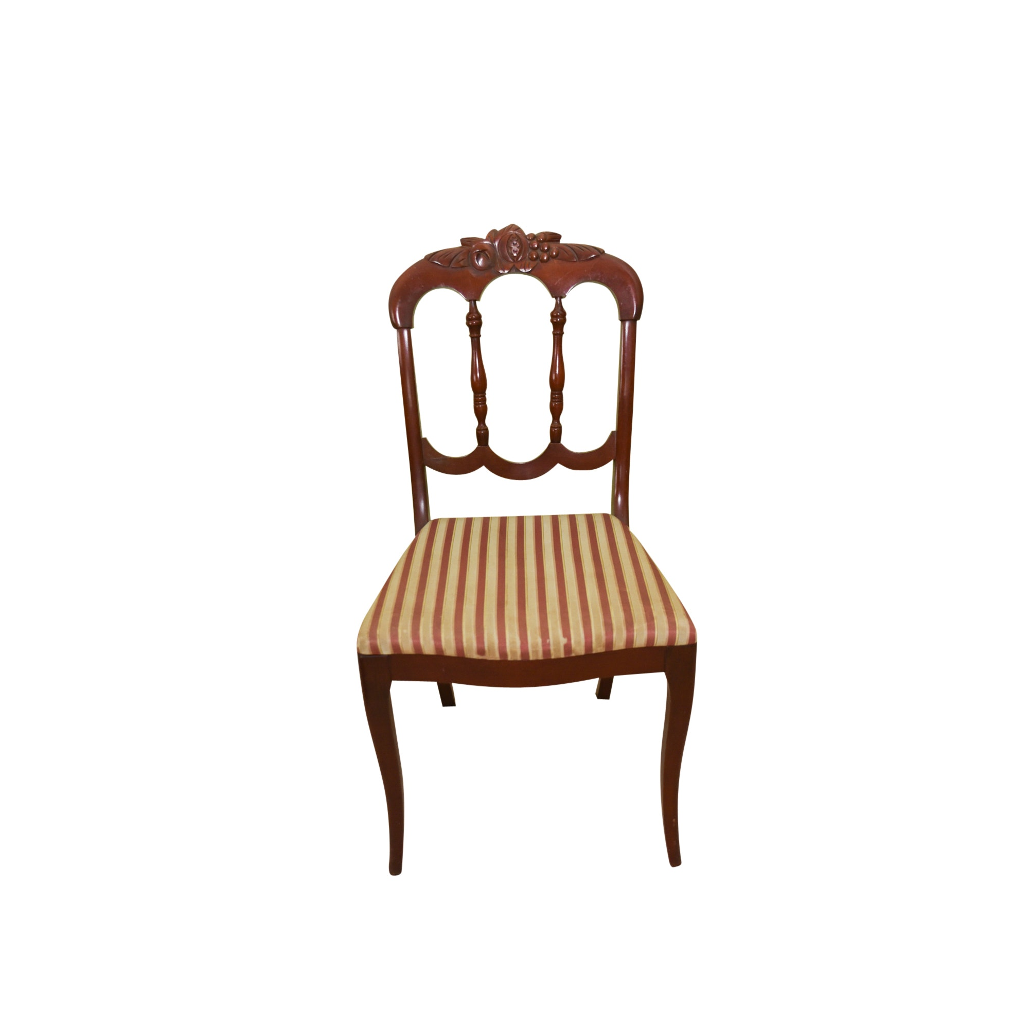 Vintage Victorian Style Side Chair By Charlotte Chair Company ...