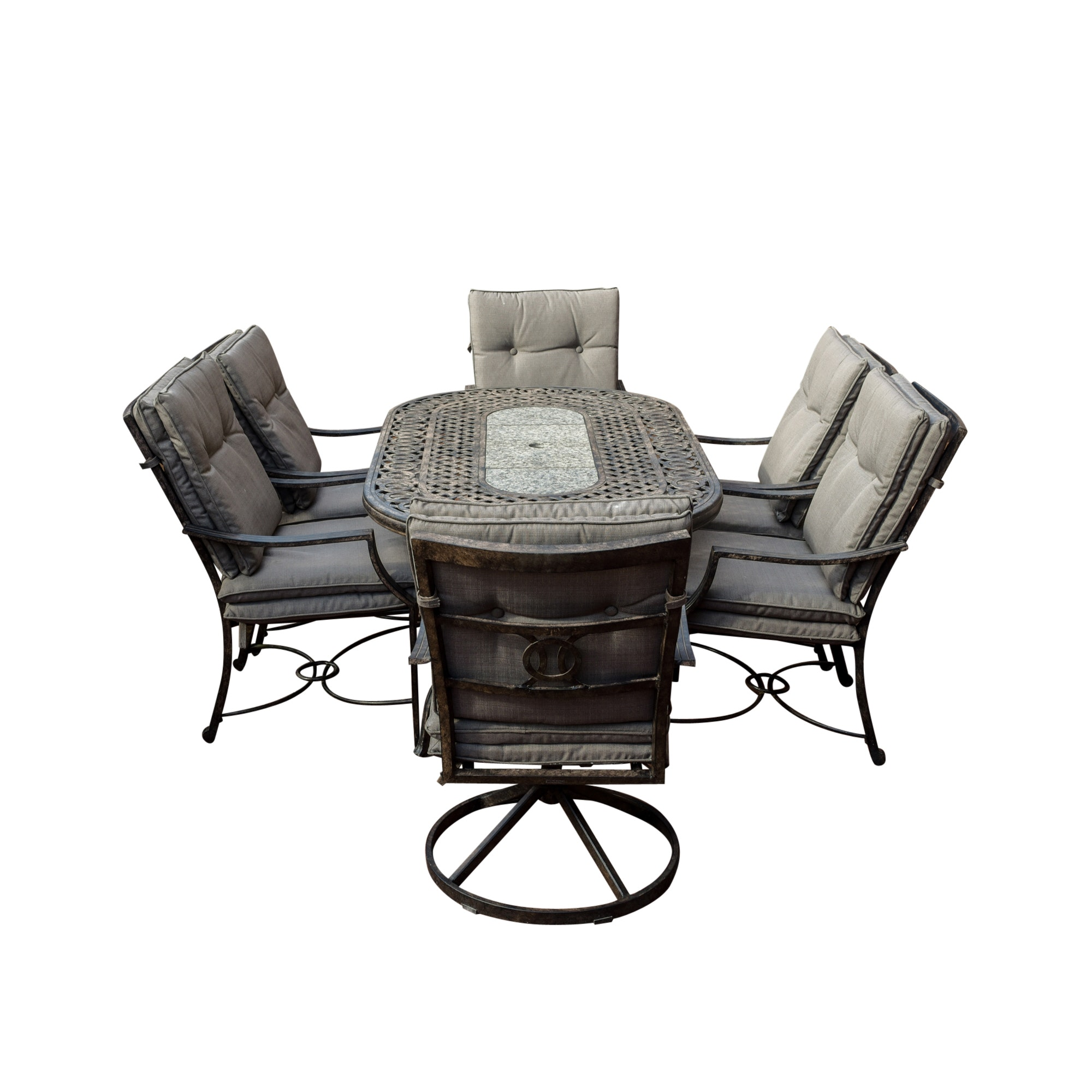 Outdoor Dining Set and Patio Chest