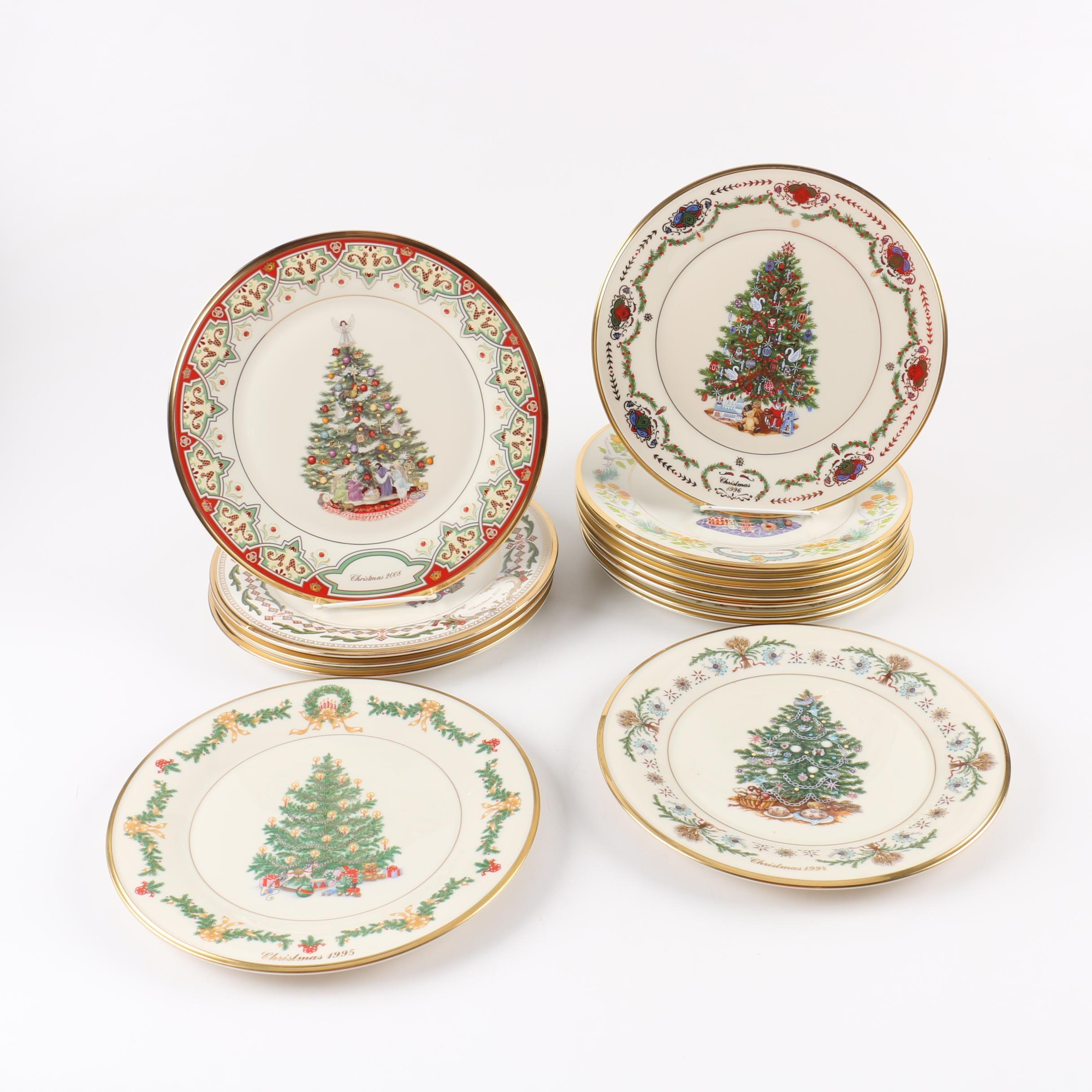 "Limited Edition Lenox ""Christmas Trees Around The World"" Decorative Plates"