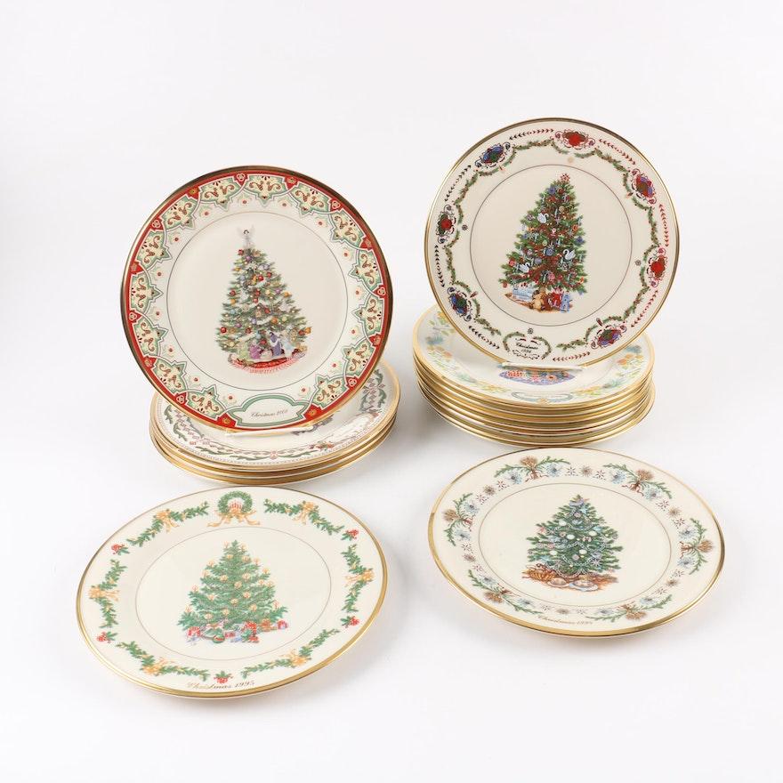 limited edition lenox christmas trees around the world decorative plates