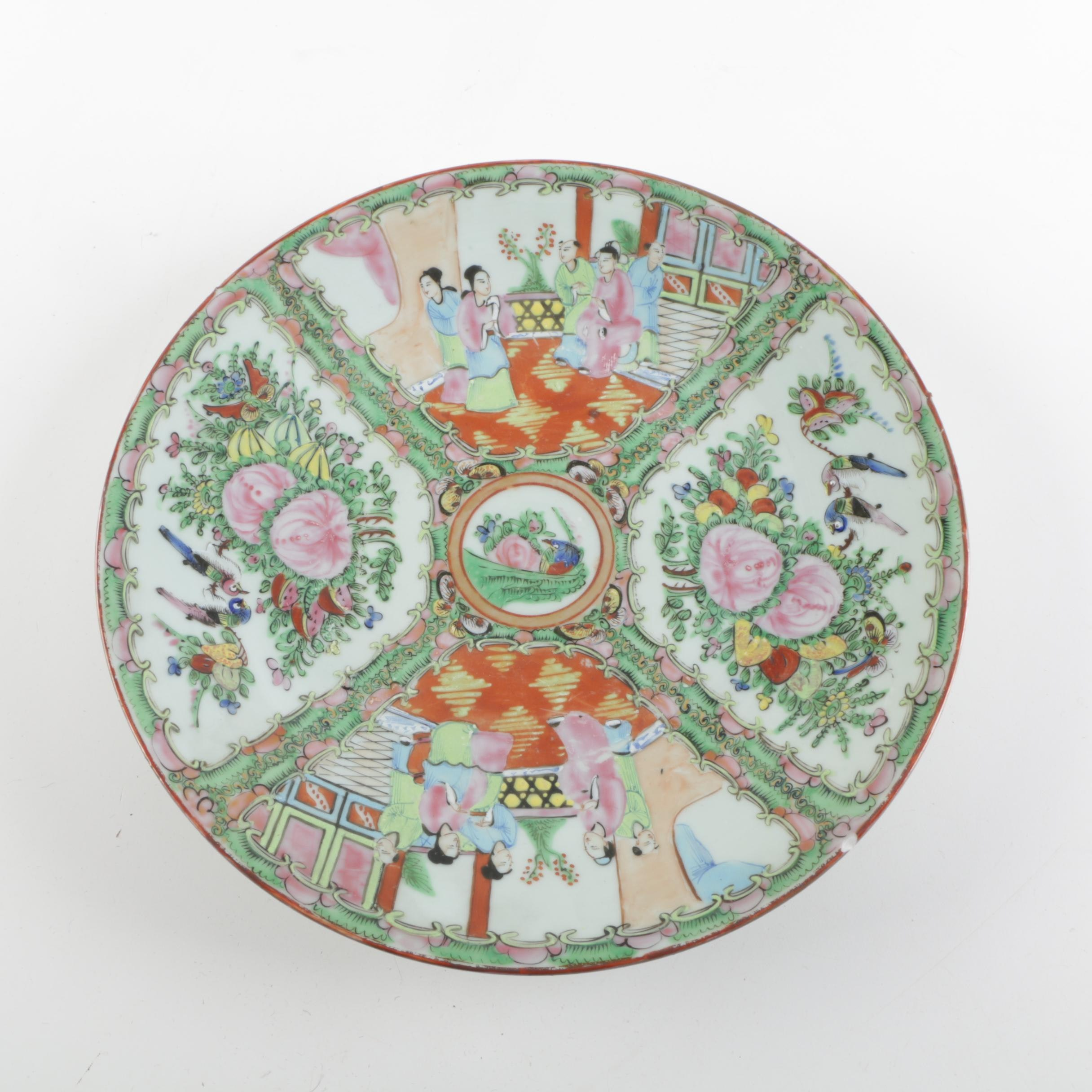 Chinese Rose Medallion Porcelain Plate