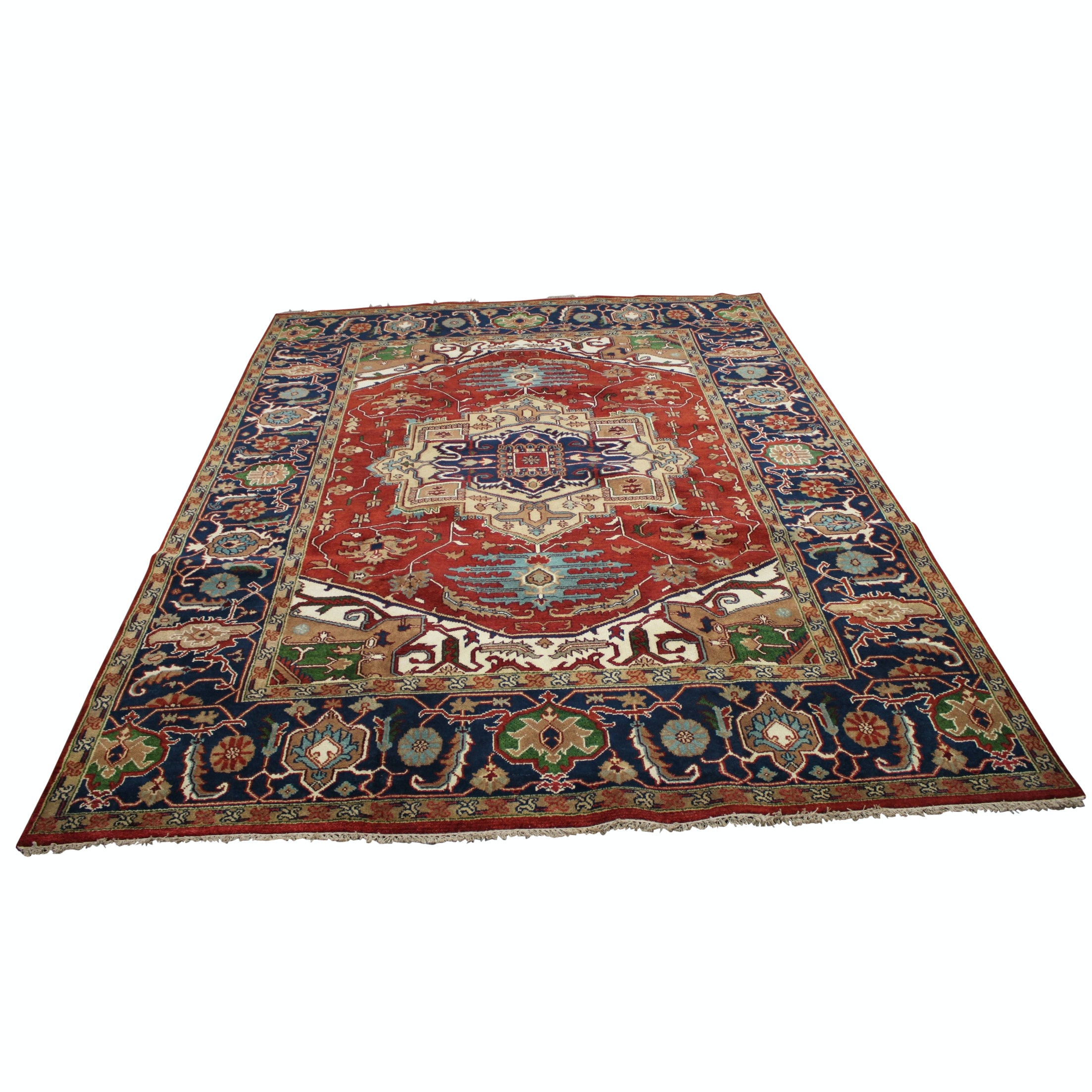 Hand-Knotted Persian Bakshaish Wool Area Rug