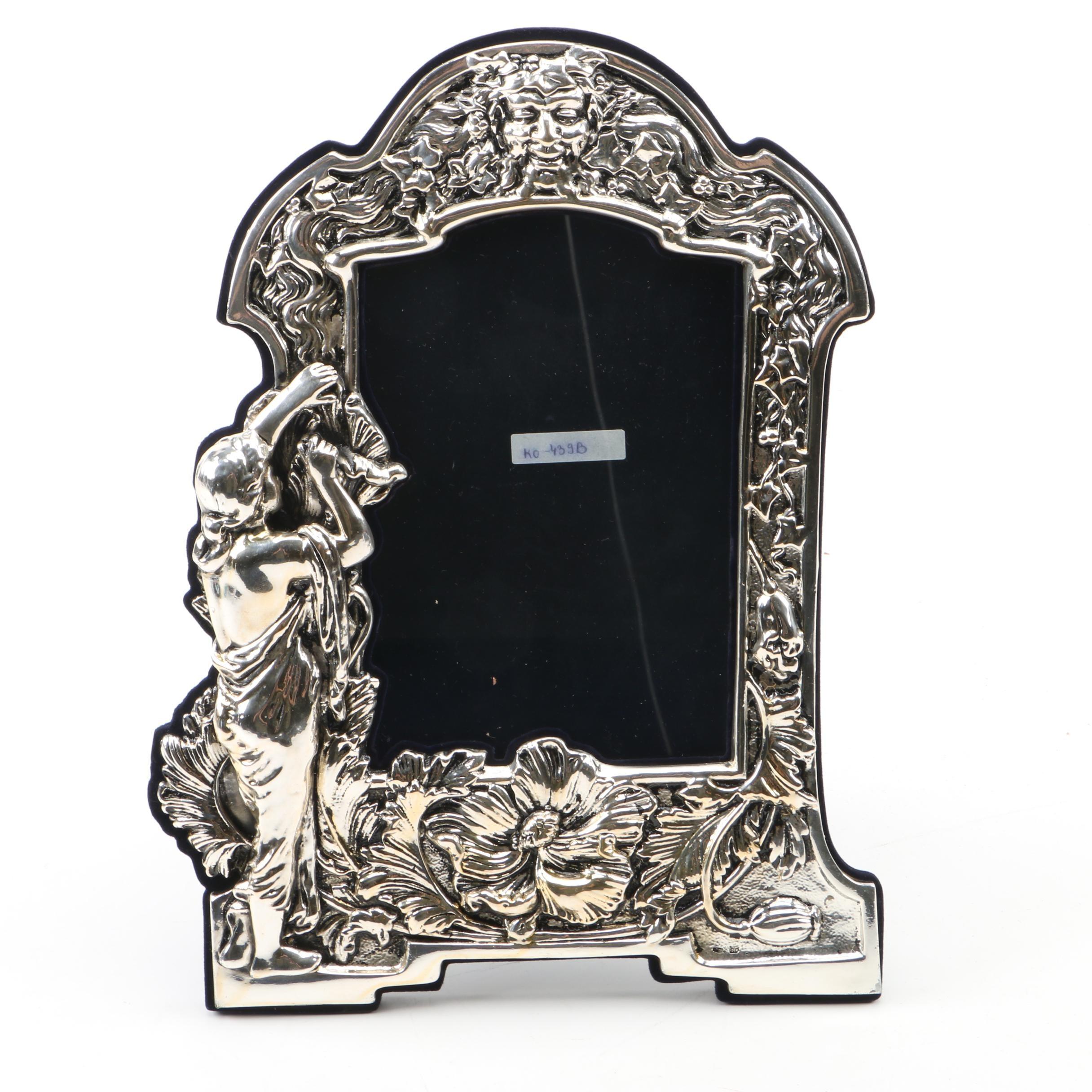 Italian Sterling Silver Art Nouveau Frame