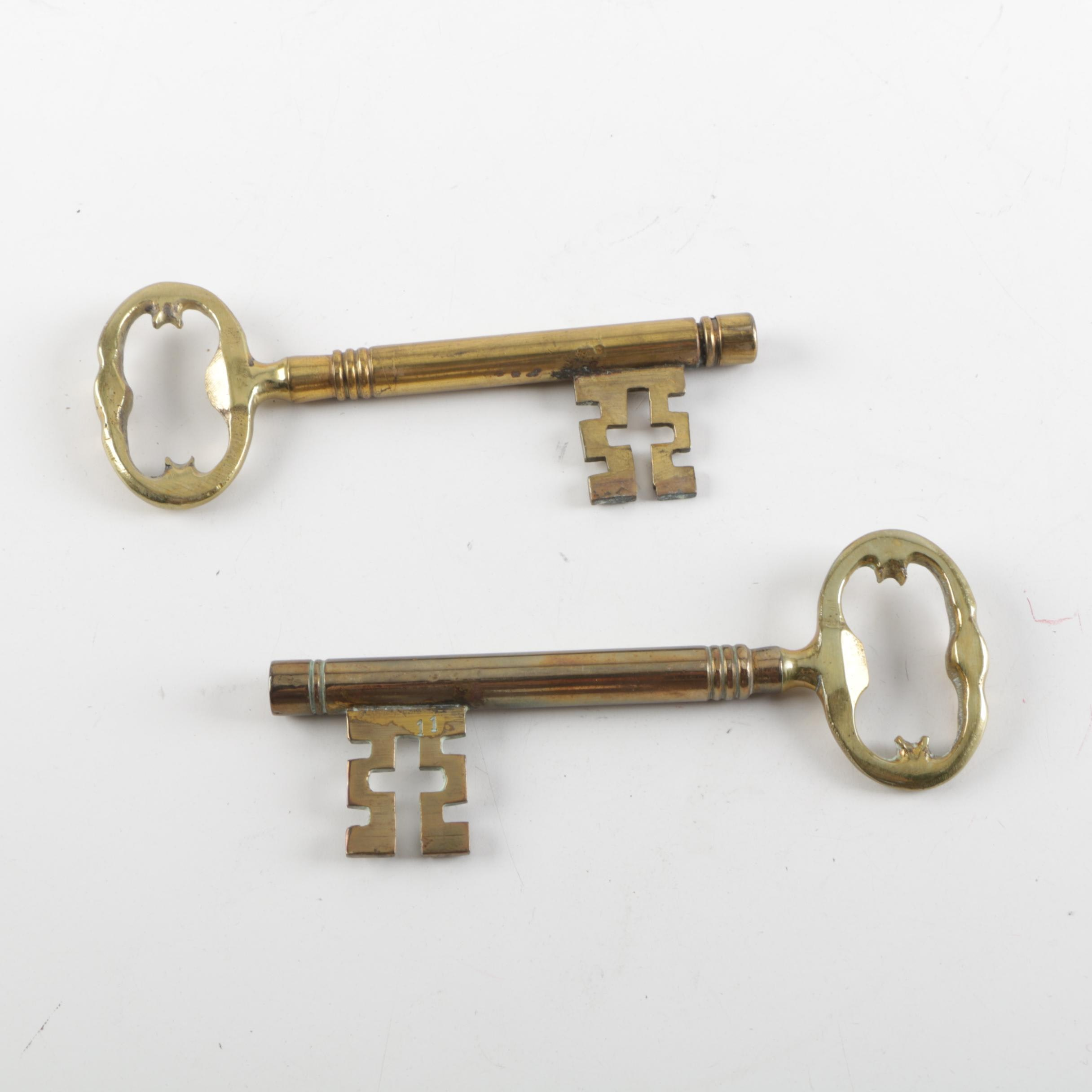 Pair of Brass Keys