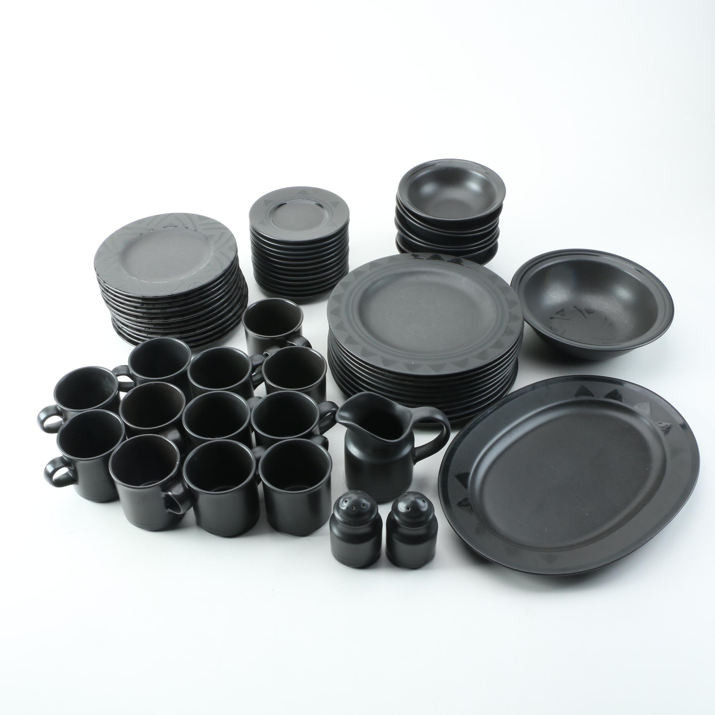 Pfaltzgraff Matte Black Ceramic  Tableware
