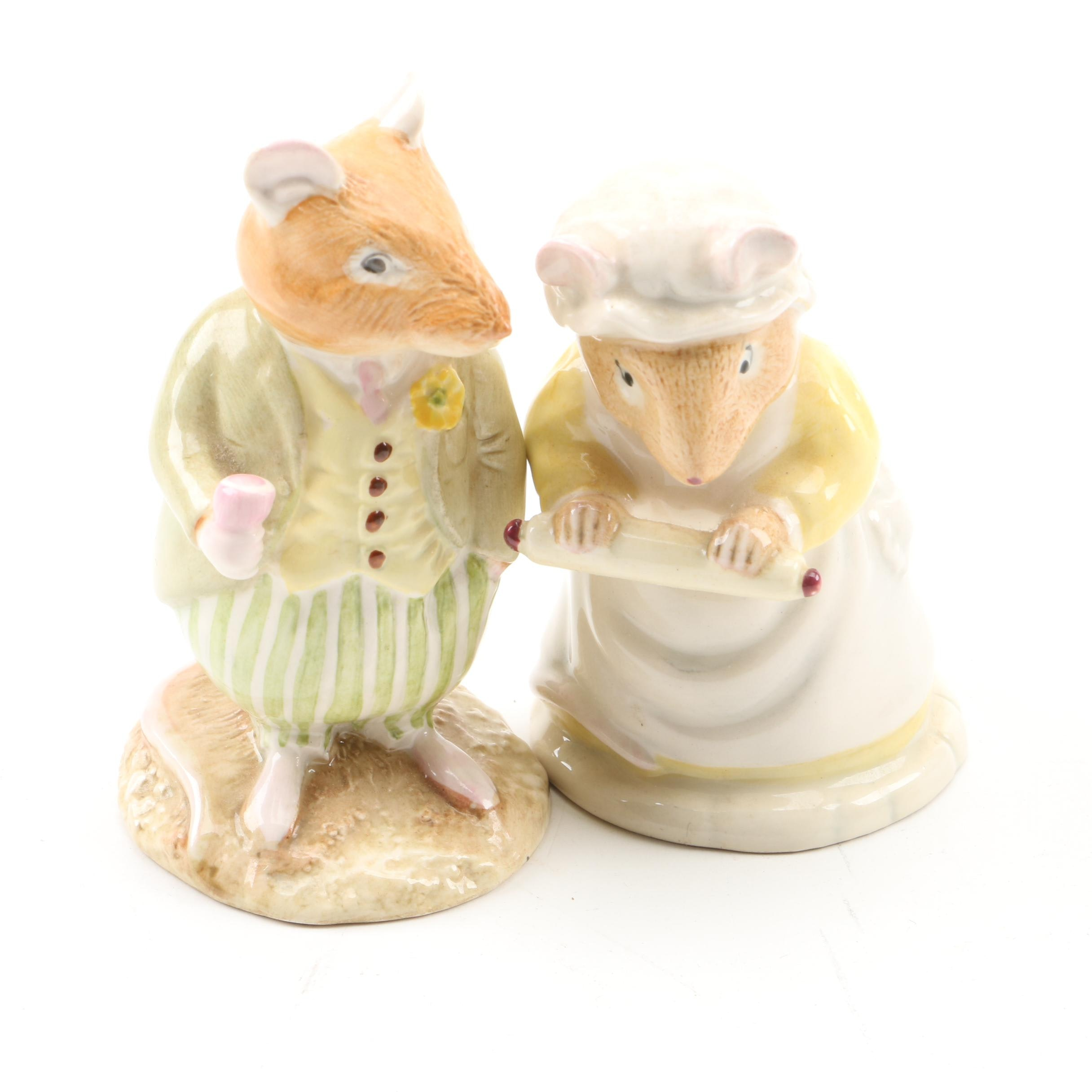 Royal Doulton Beatrix Potter Figurines, Including Mrs. Crustybread and Conker