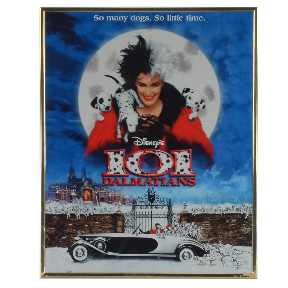 101 Dalmations Offset Lithograph Movie Poster
