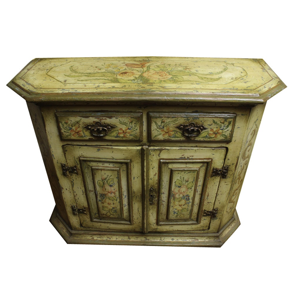 Polychrome Decorated Italian Cabinet