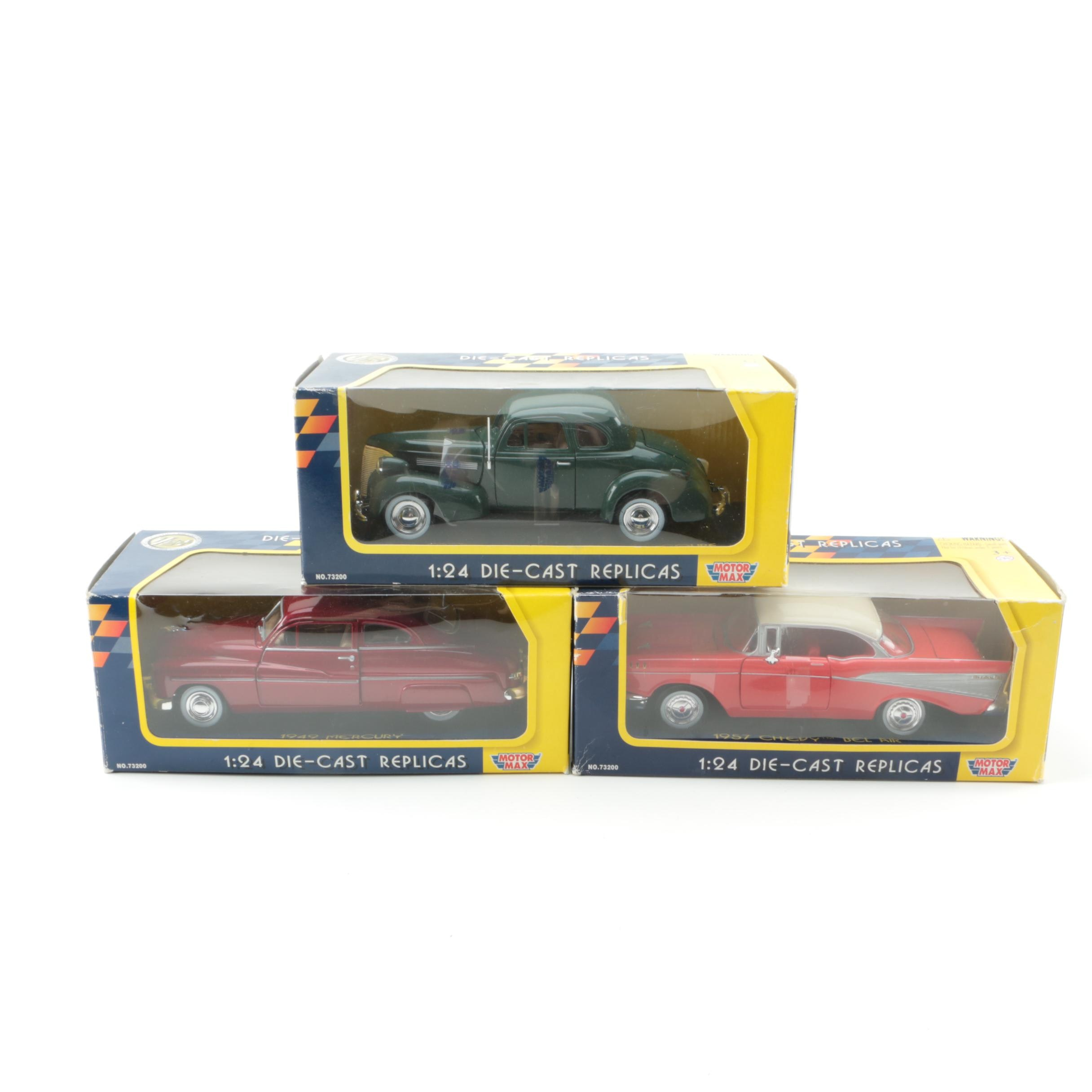 1/24 Scale Die Cast Replica Cars by Motormax