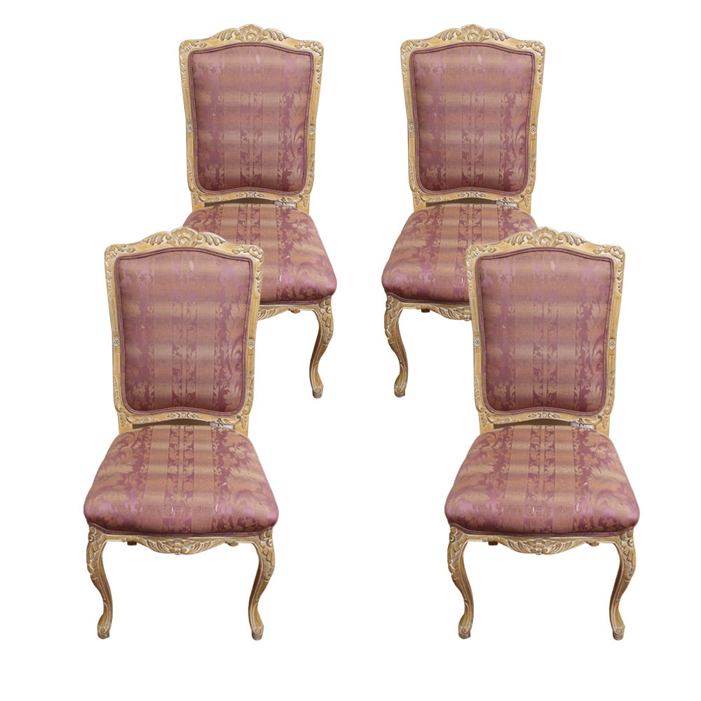 Set of Louis XV Style Upholstered Chairs