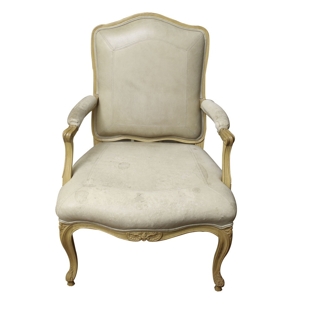 Louis XV Style Carved Beech Armchair