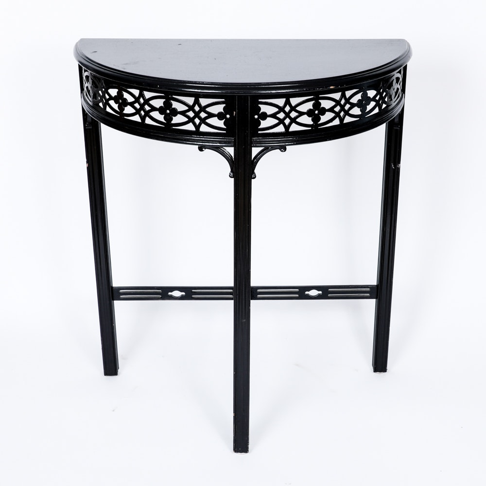 Painted Demilune Accent Table