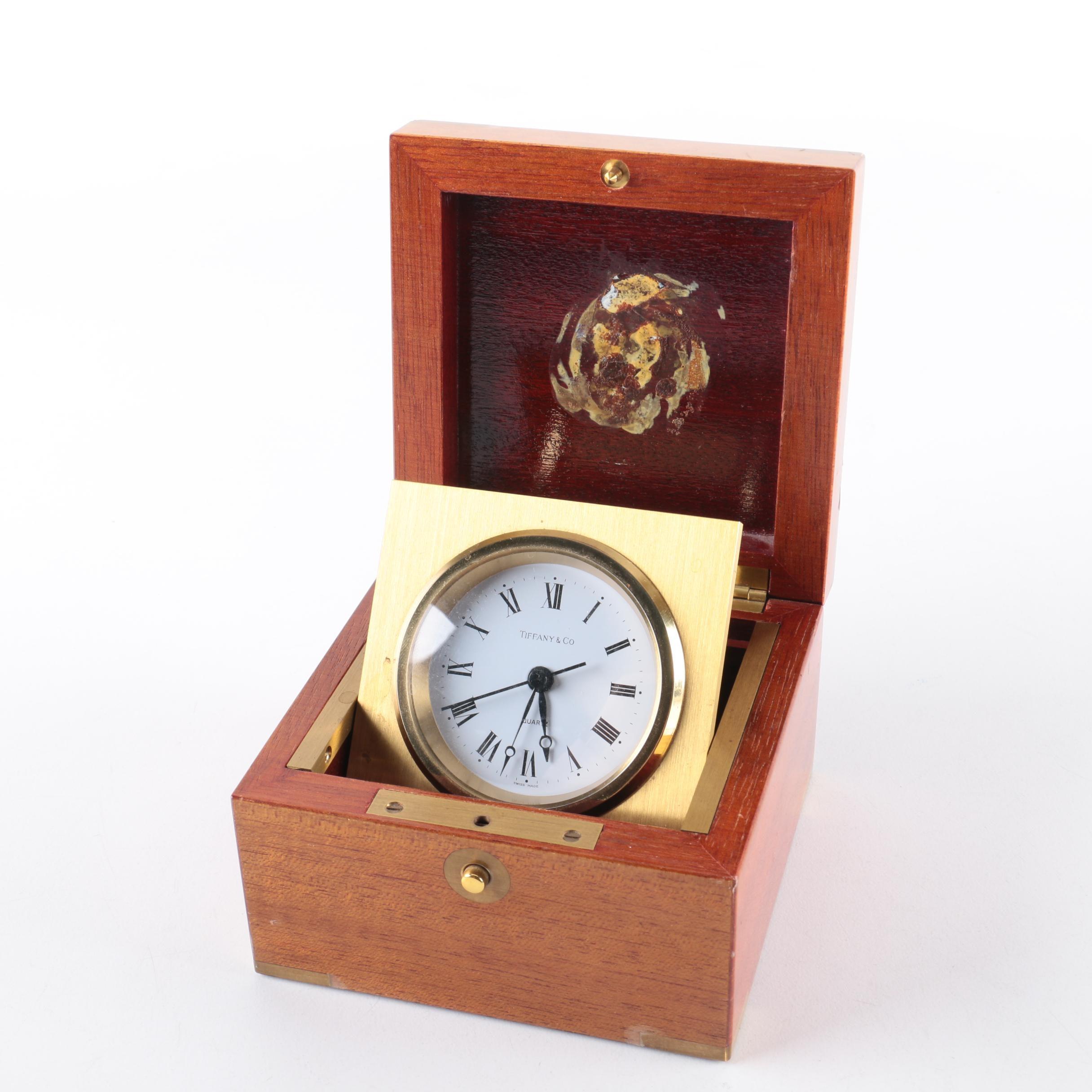 Tiffany & Co Boxed Swing Desk Clock