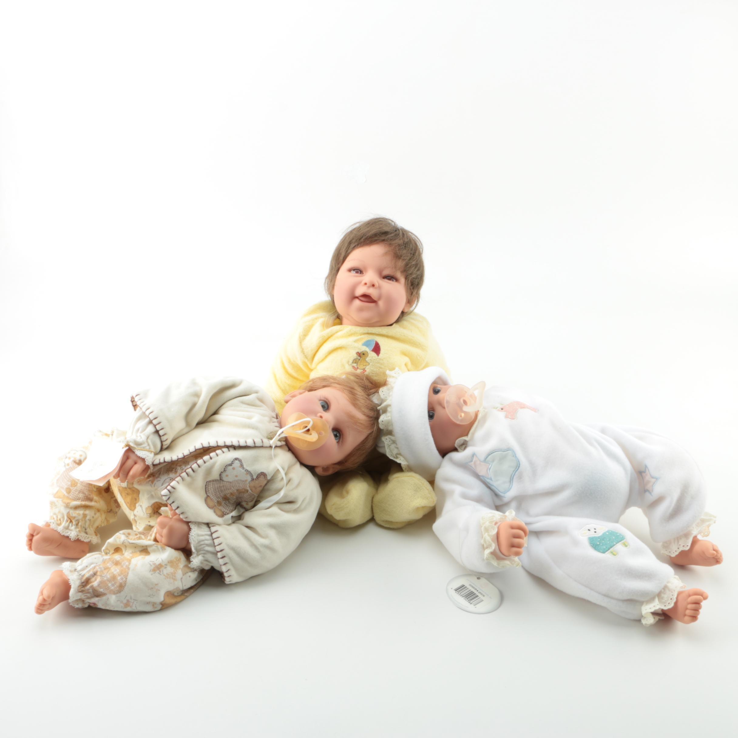 Lee Middleton Vinyl Baby Dolls by Reva Schick