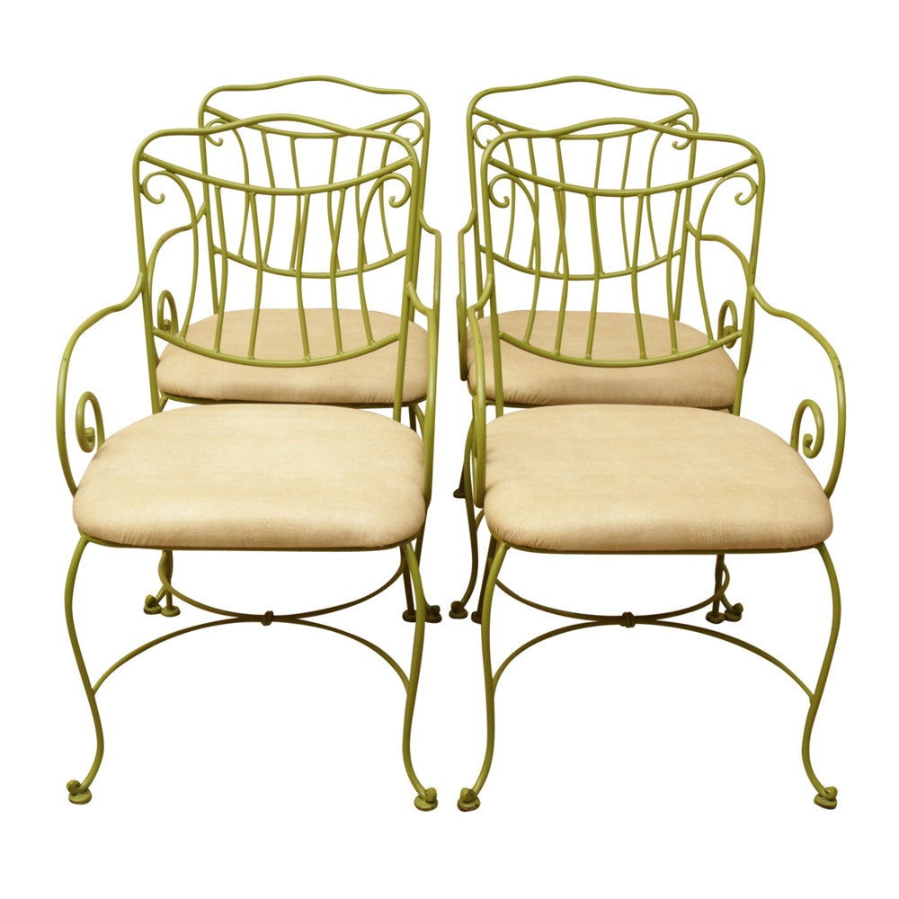 Vintage Green Metal Chairs