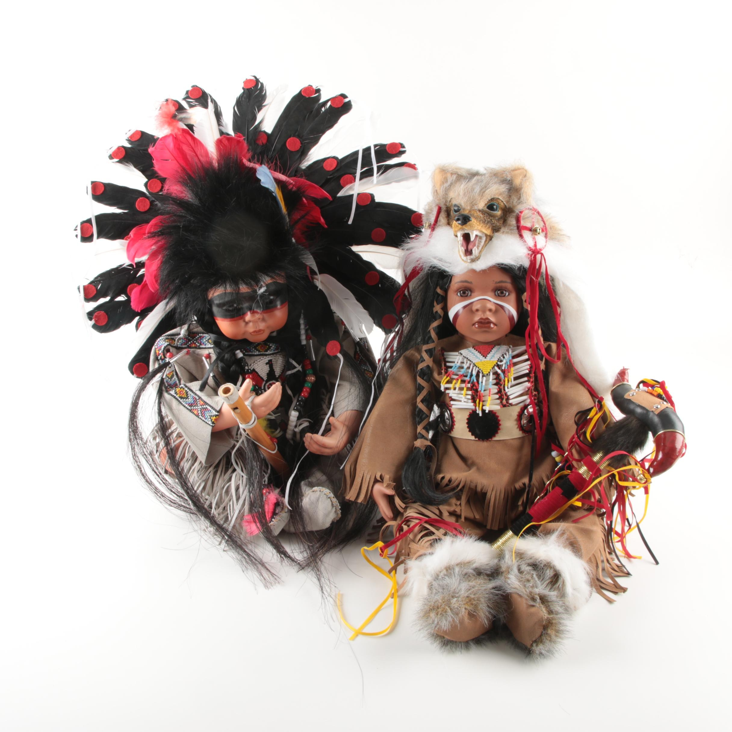 Timeless Lodge Native American Style Dolls