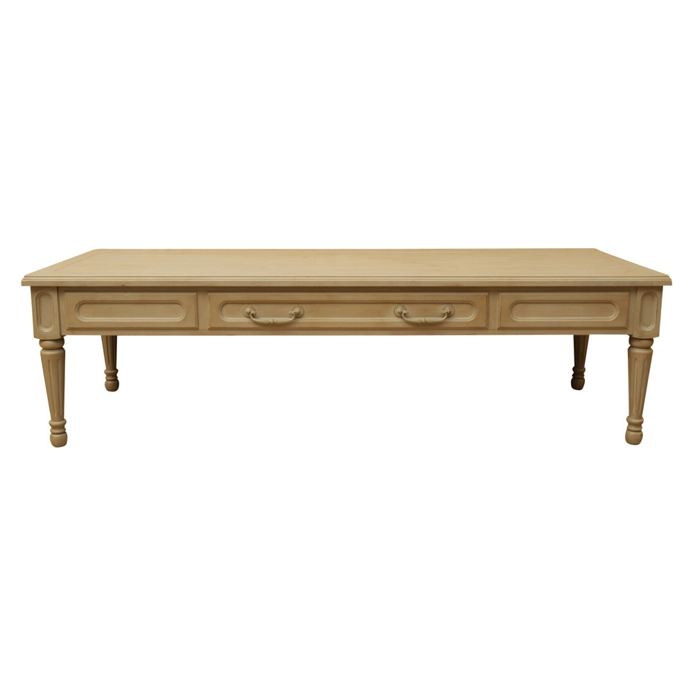 Italian Style Painted Coffee Table by Mersman