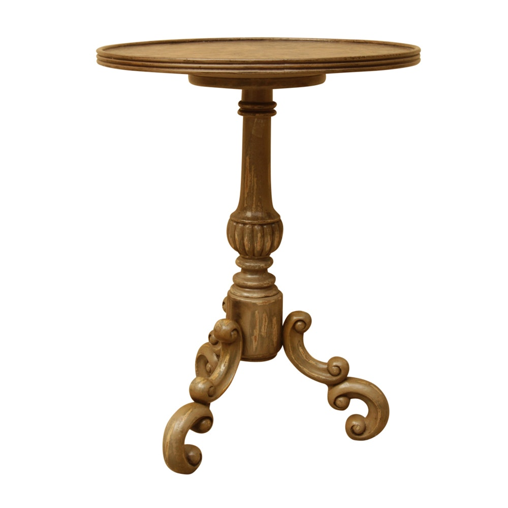Medium image of distressed accent table by uttermost