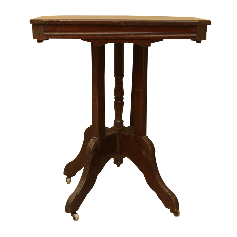 Antique Victorian Eastlake Walnut Side Table