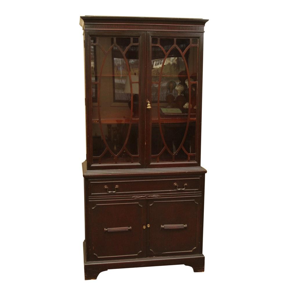 Vintage Hepplewhite Style China Cabinet