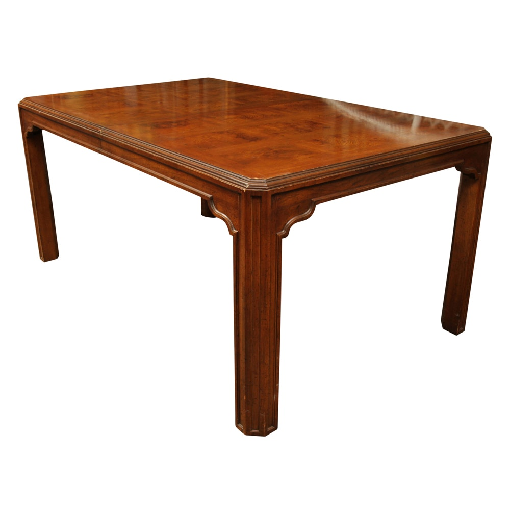 Asian Style Pecan Dining Table by Heritage