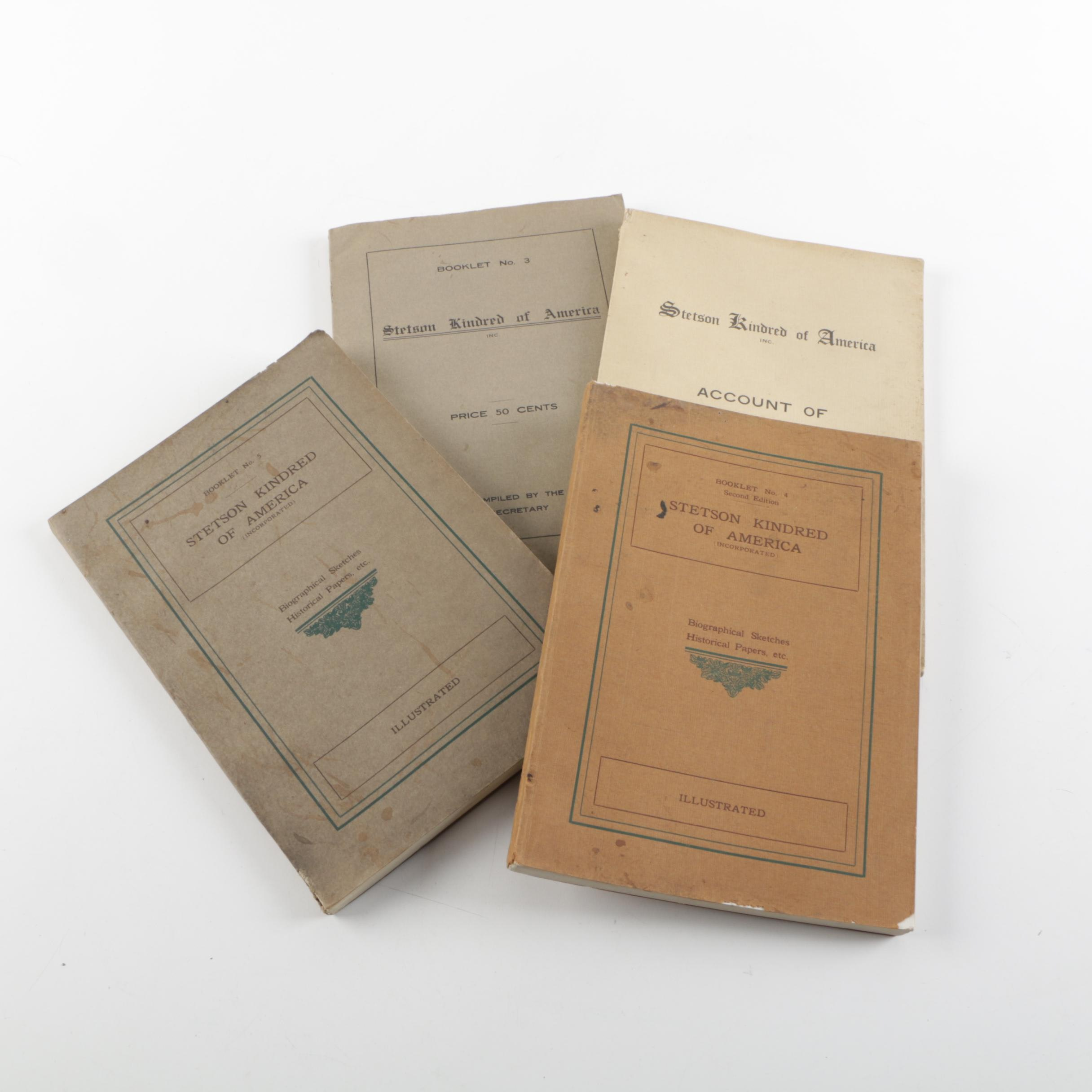 """Antique """"Stetson Kindred of America"""" Booklets"""
