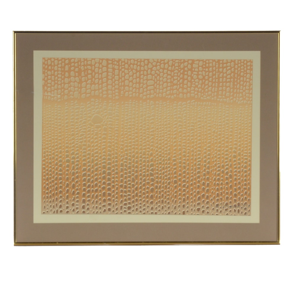 "1979 Serigraph ""Soft Wood Cells"""
