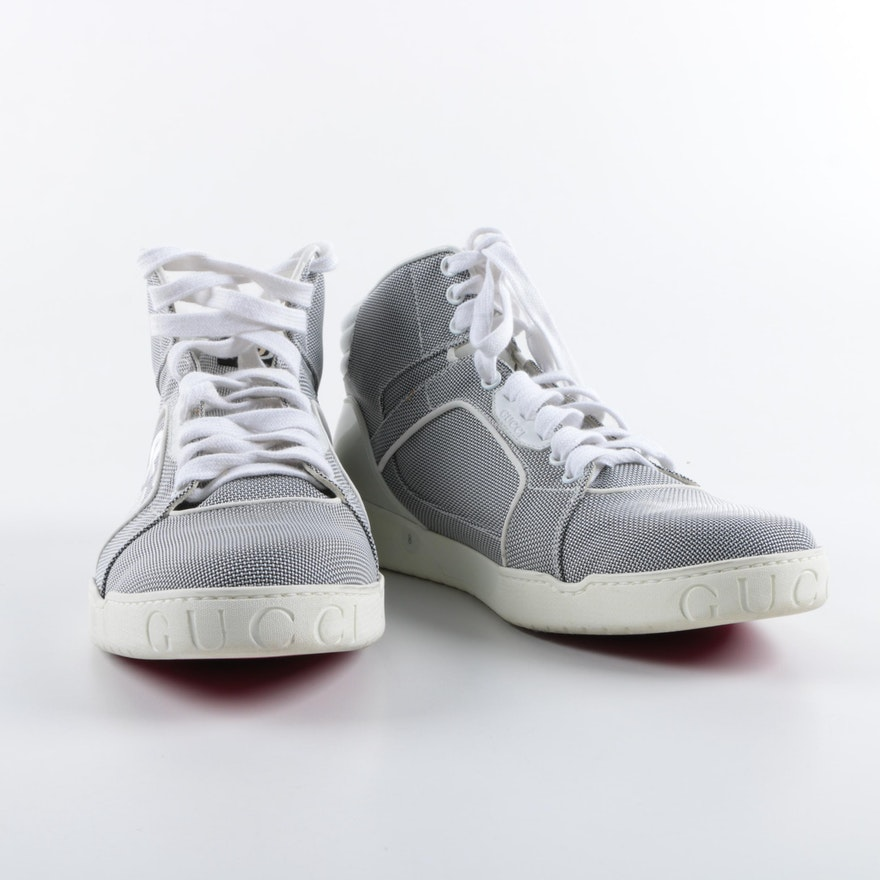 44ce37b43 Men's Gucci High Top Sneakers in Bailing Gray : EBTH