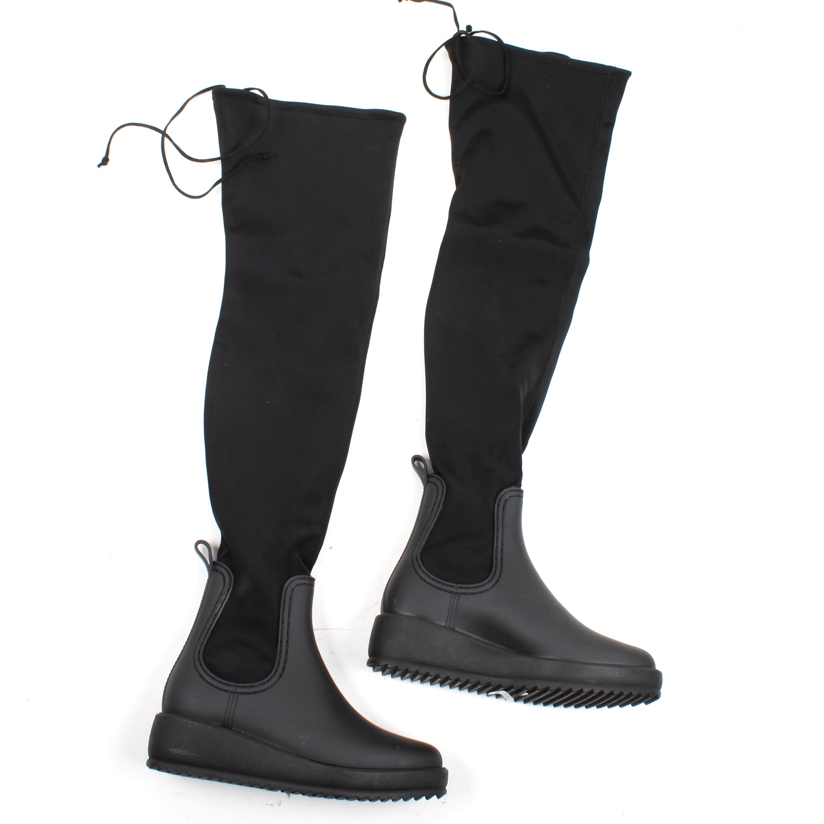 Jeffrey Campbell Monsoon Over-the-Knee Platform Rain Boot 4Xyk4s