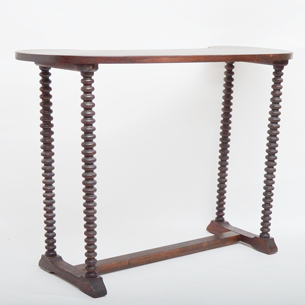 Antique Console Spool Table