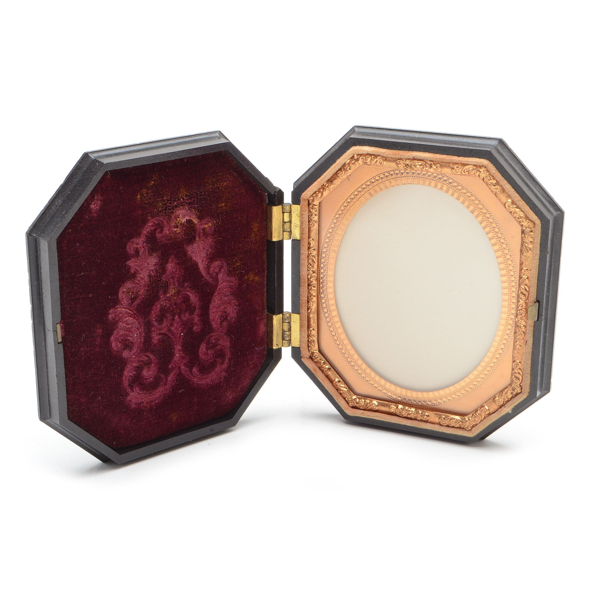 Gutta Percha Picture Frame in Hinged Case