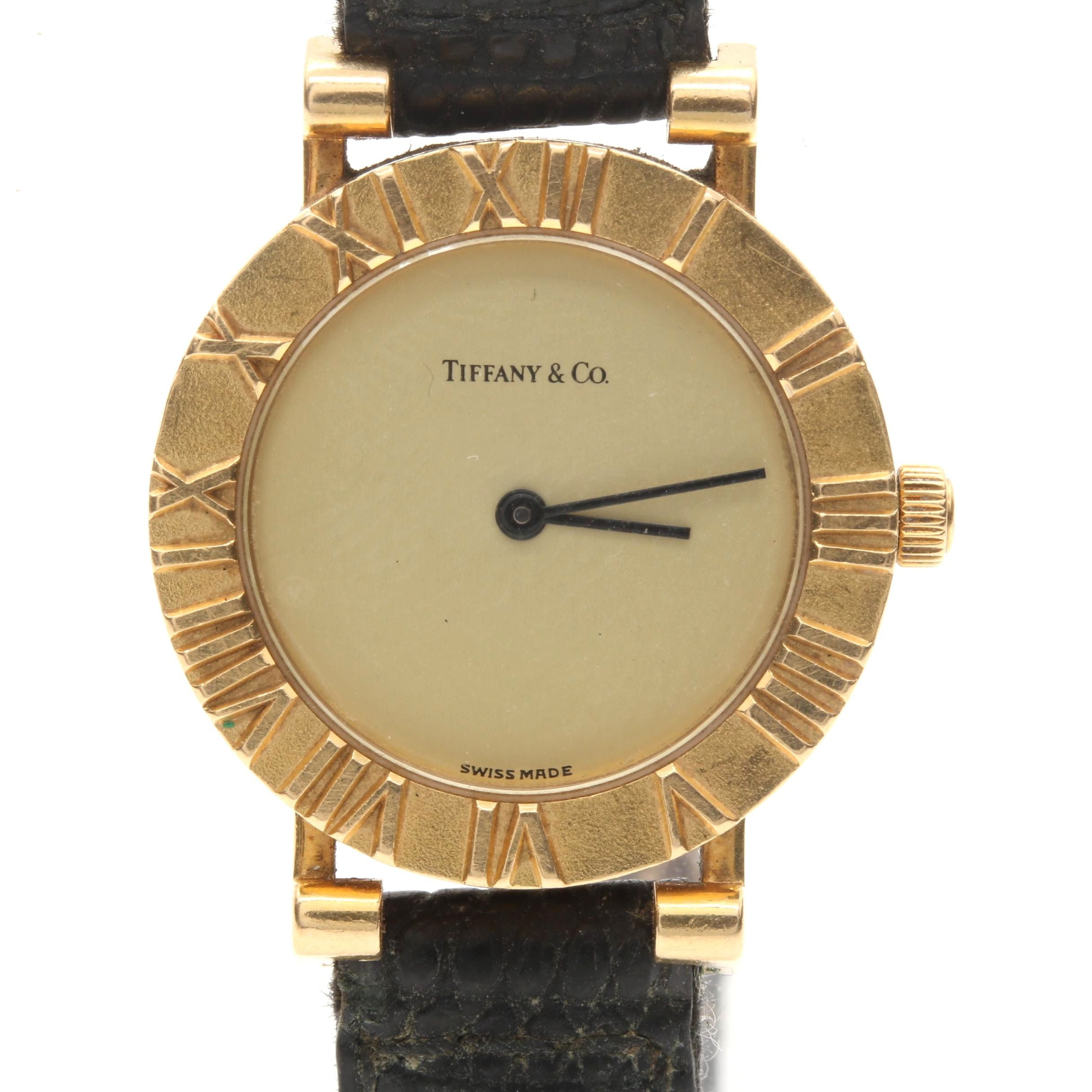Tiffany & Co Atlas 18K Yellow Gold Wristwatch