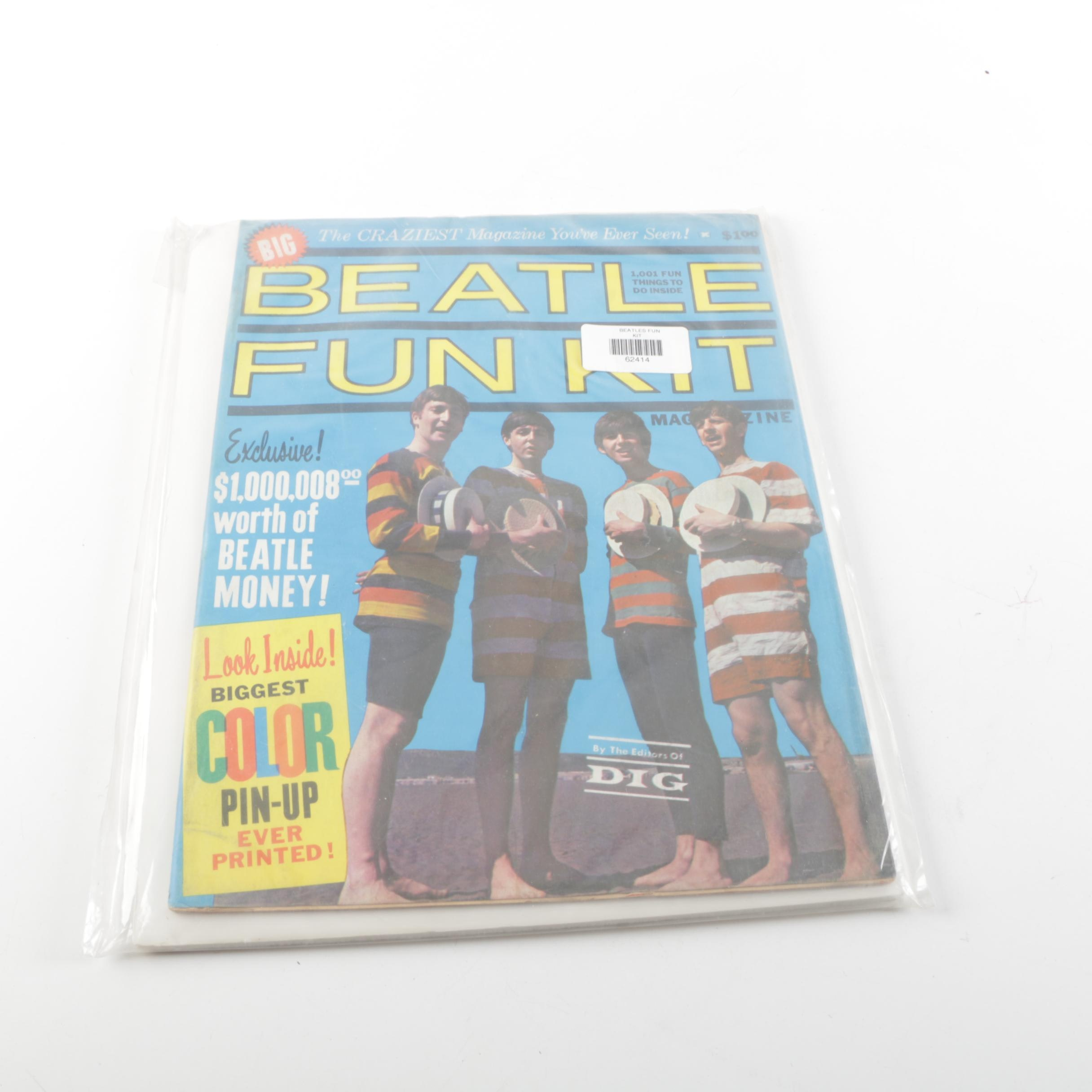 "1964 ""Big Beatle Fun Kit"" Magazine"
