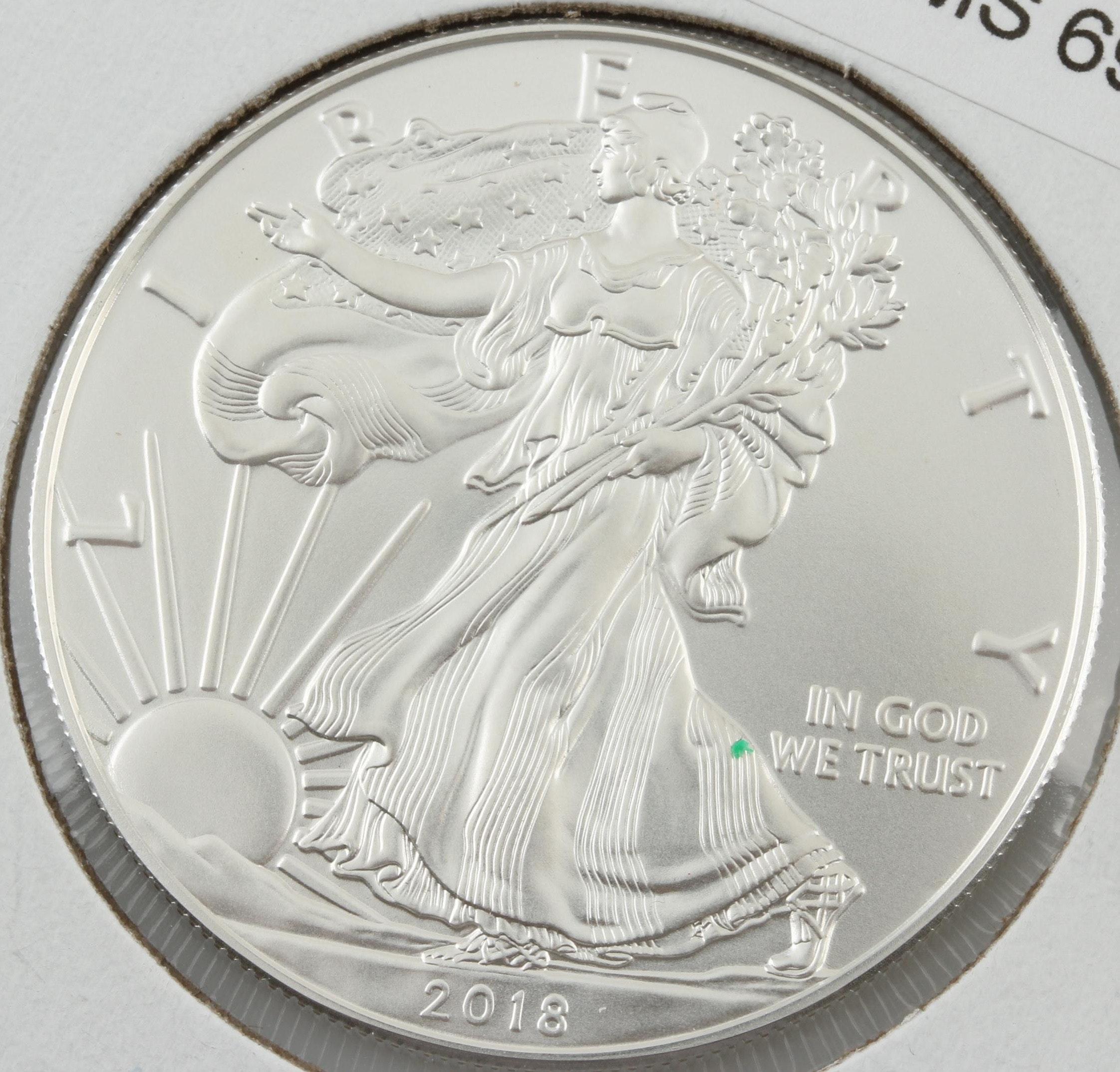 2018 One Dollar U.S. Silver Eagle