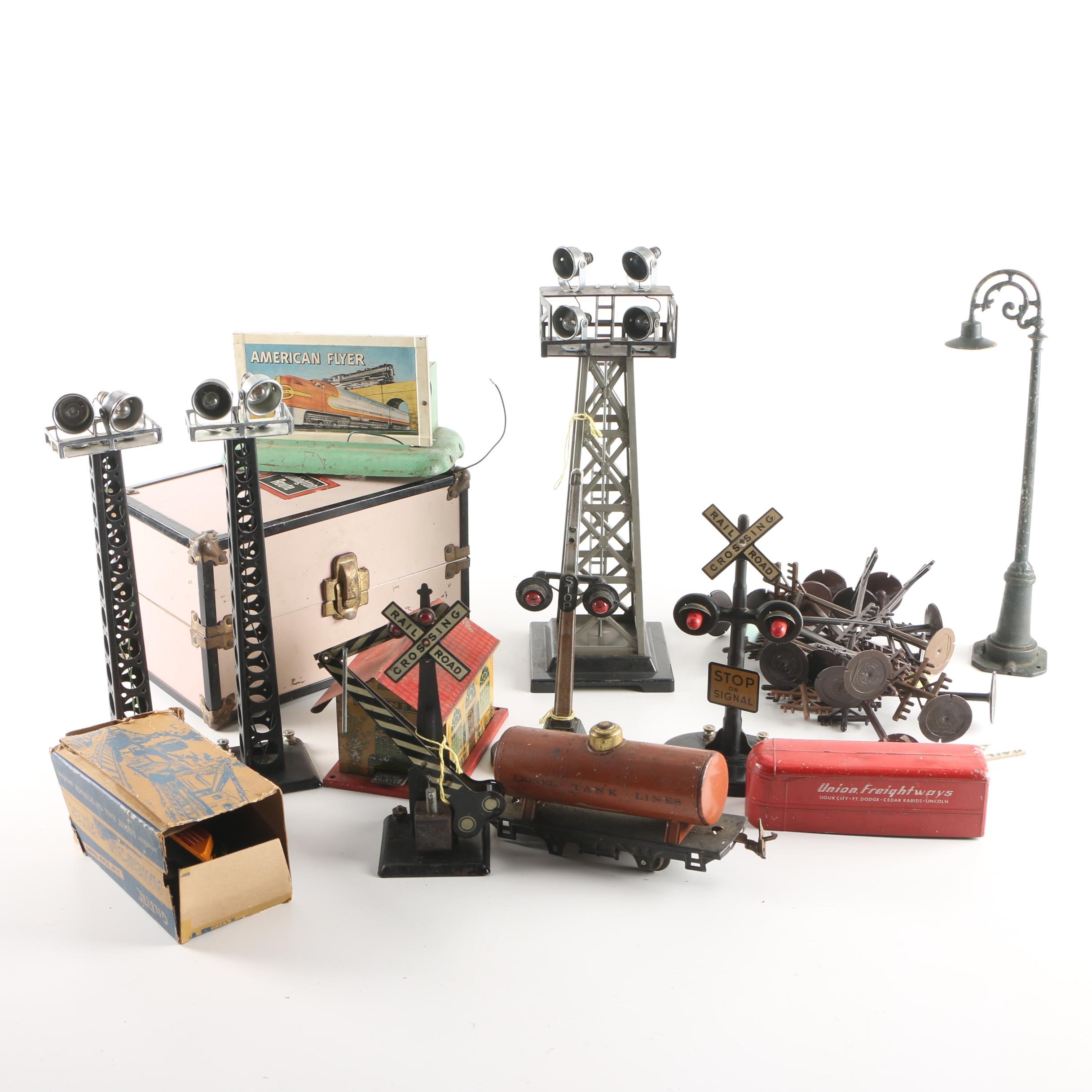 Vintage Electric Train Set Accessories, Including Lionel and American Flyer