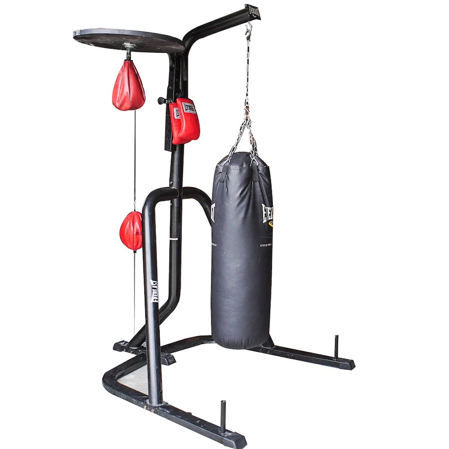 Everlast Dual Station Punching Bag Stand