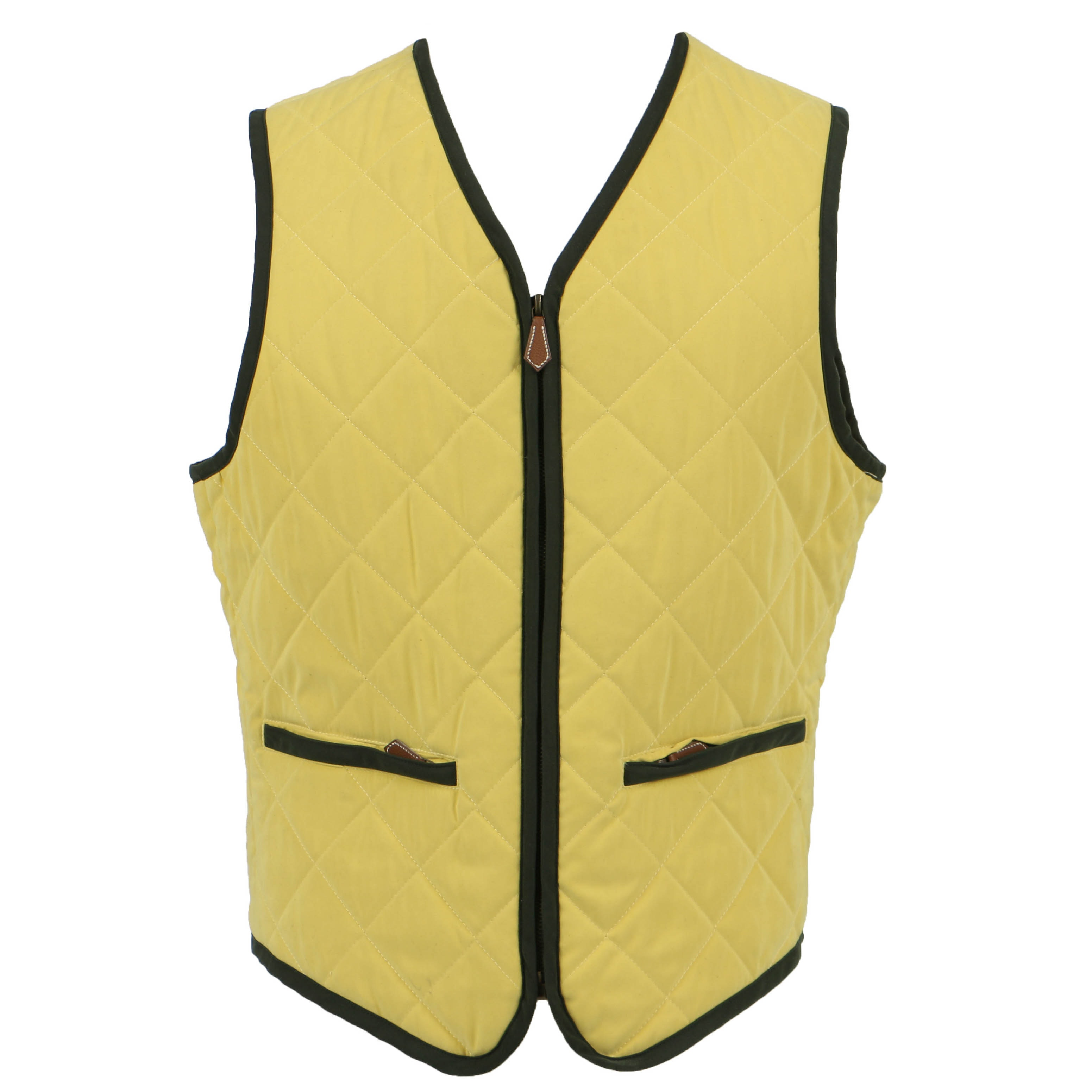 Hermès Vintage Quilted Yellow Waistcoat