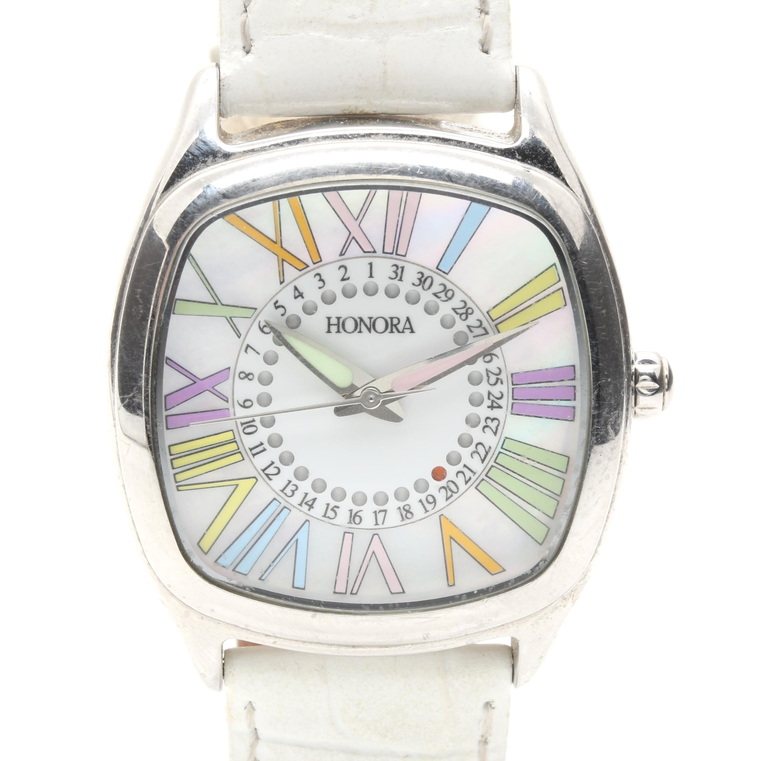 Honora Stainless Steel Wristwatch in Pastel Colors