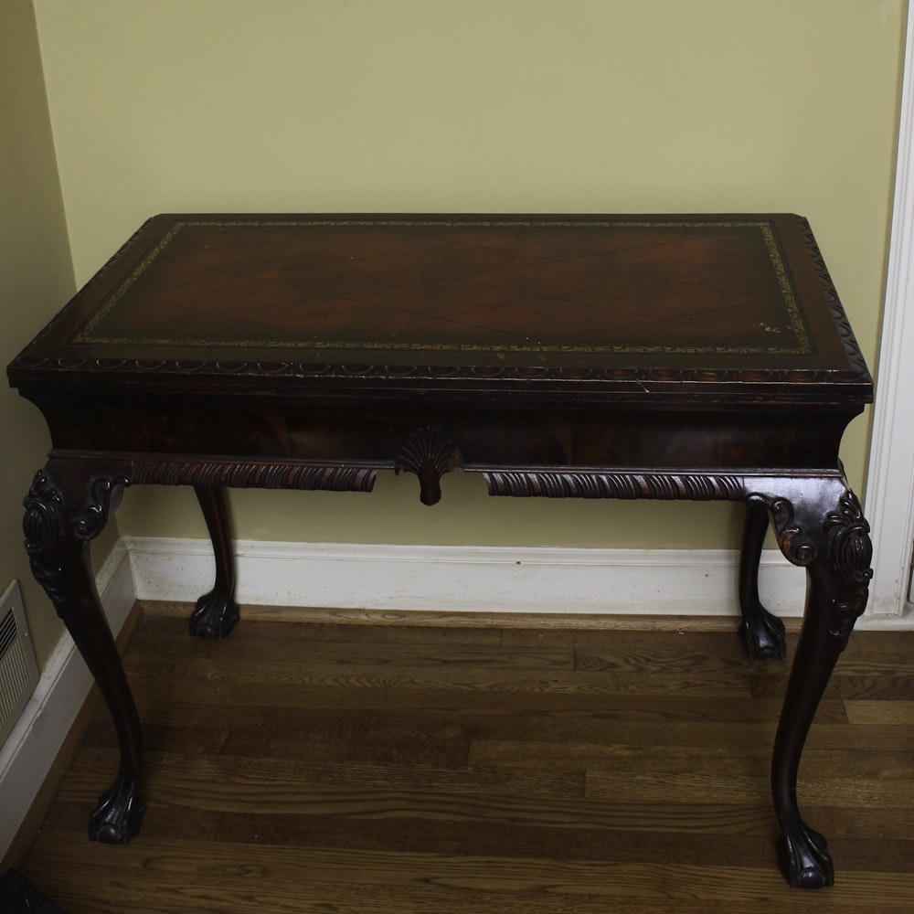 Vintage Chippendale Style Mahogany Side Table