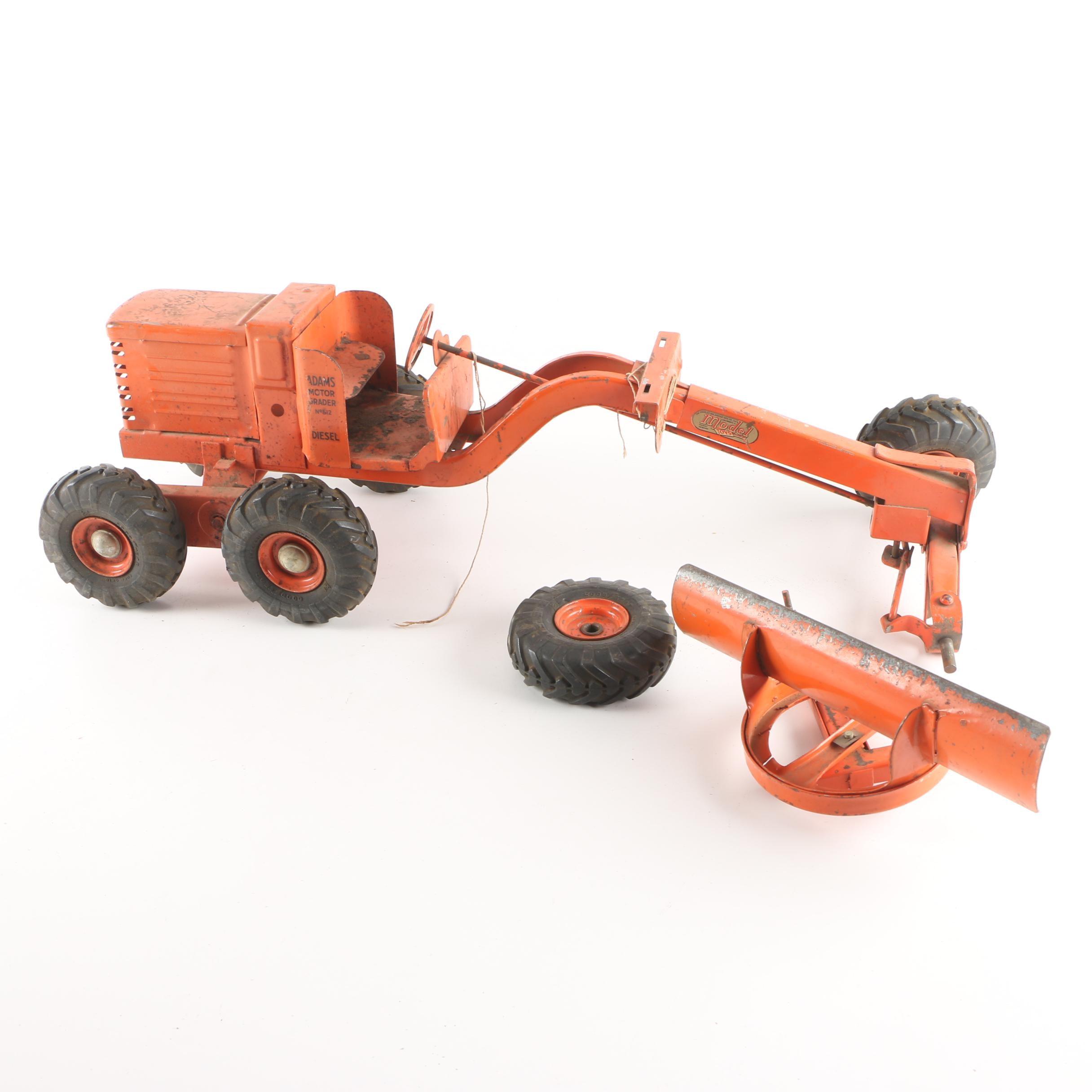 1950s Doepke Model Toys Pressed Steel Road Grader