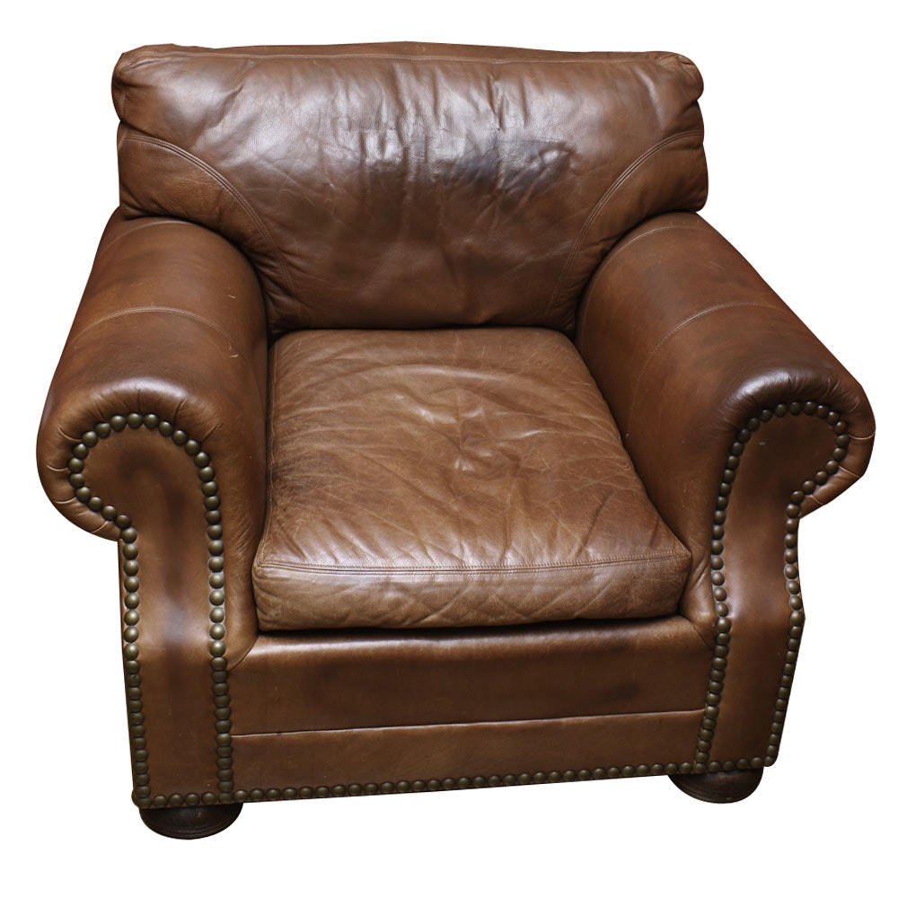 Leather Club Chair by Craftwork