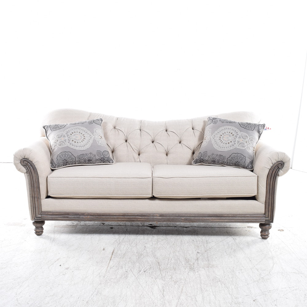 Tufted Upholstered Sofa By Serta ...
