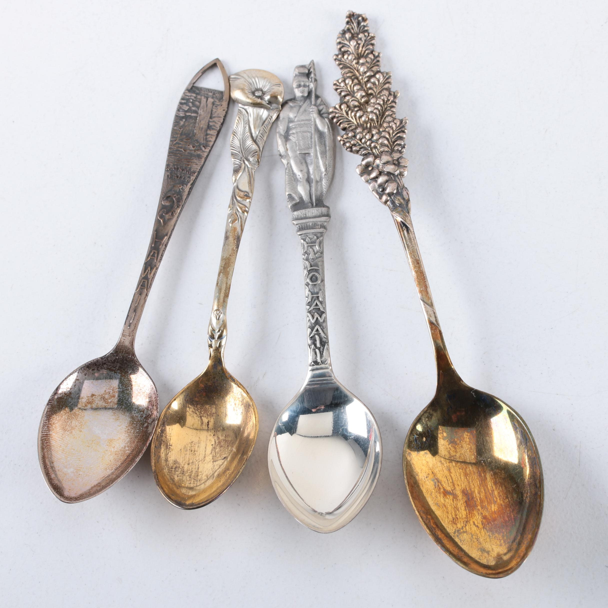 Reed & Barton Sterling Spoons and Charles M. Robbins Sterling Souvenir Spoons