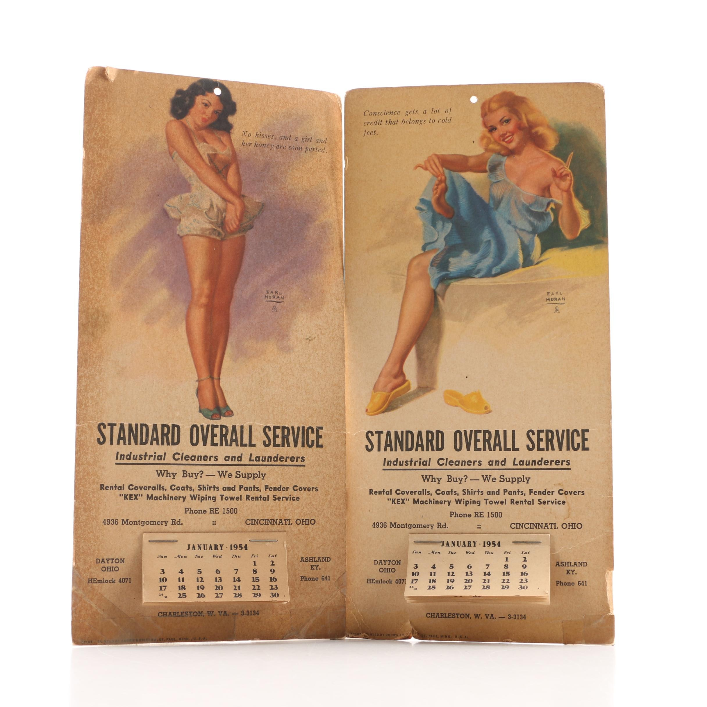 1954 Standard Overall Service after Ed Moran Drawn Advertising Calendars