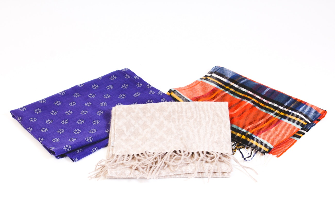 Nordstrom, Romy Habegger and J. McLaughlin Wool and Cashmere Scarves