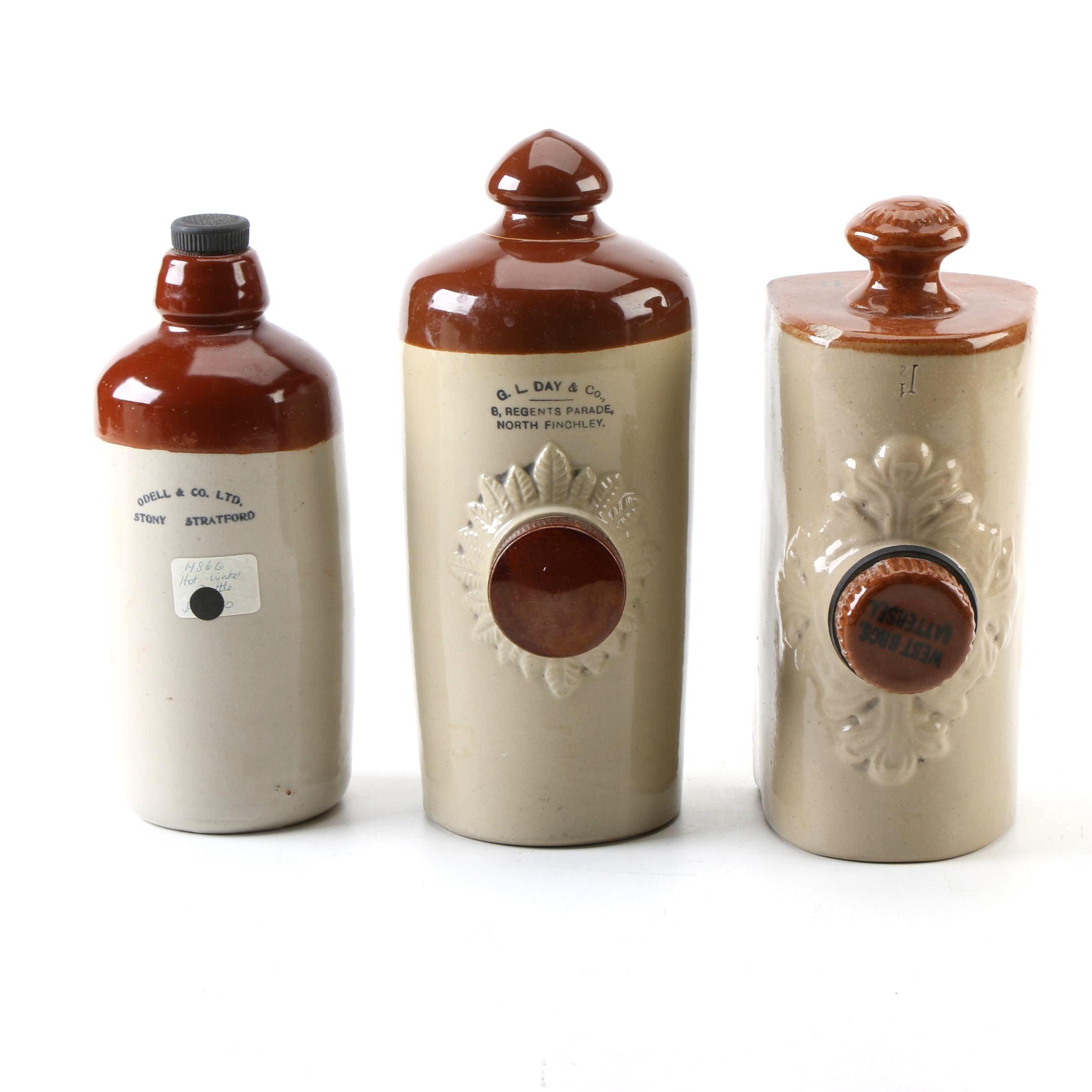 Vintage Hot Water Bottles Including Odell & Co.
