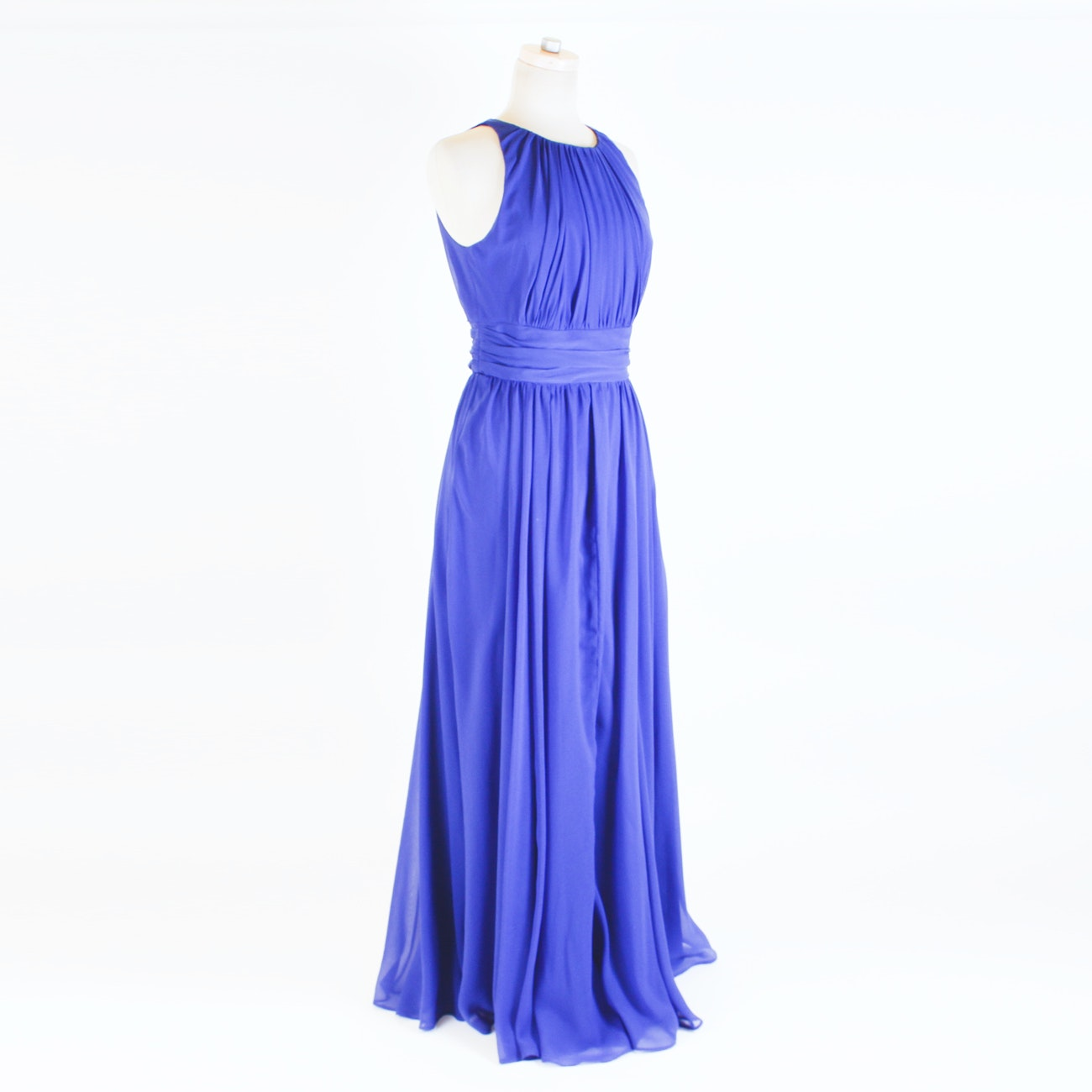 Badgley Mischka Collection Royal Blue Satin Evening Gown