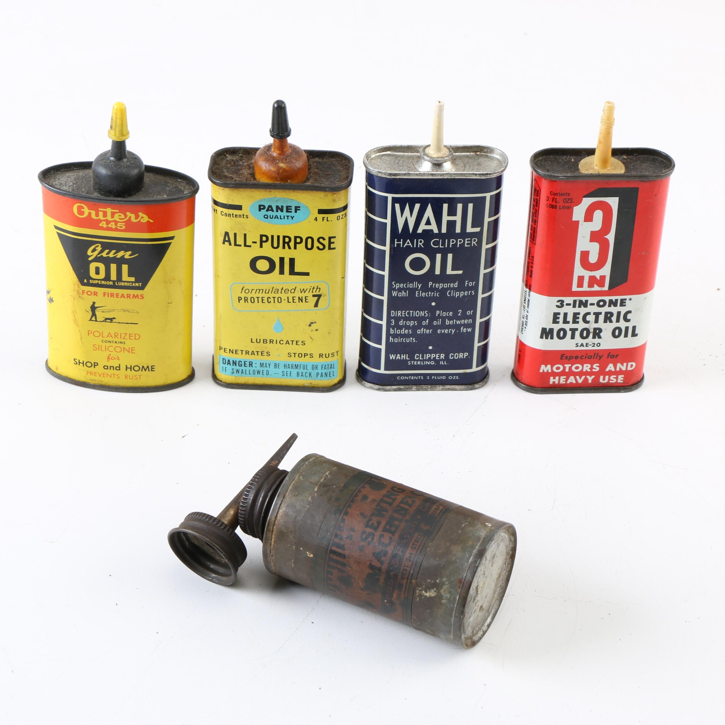 Vintage Oil Cans Featuring Outers and Wahl